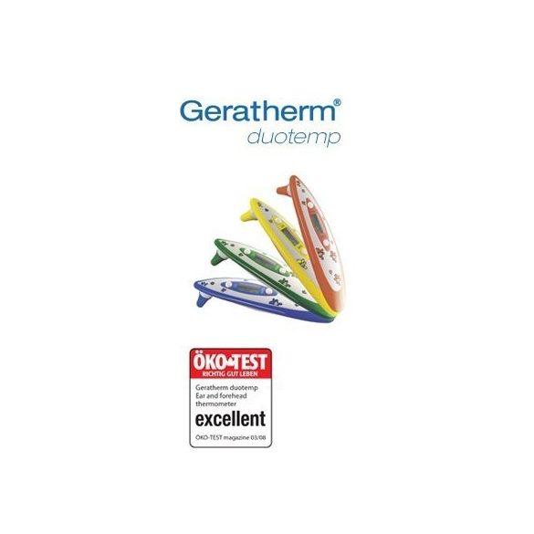 Geratherm Duo Temp Homlok hőmérő citromsárga /EP kártyára adható/