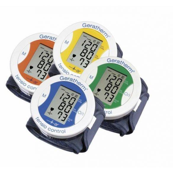 Geratherm Tensio control csuklós vérnyomásmérő sárga /EP kártyára adható/
