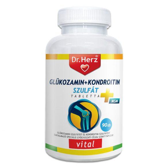 Dr.herz glüközamin-kondroitin-szulfát-msm gyógyászati célra 90 db