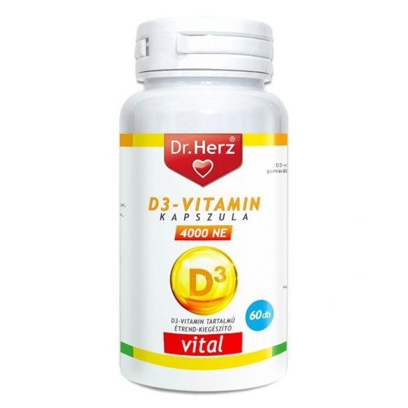 DR Herz D3-vitamin 4000NE 60db kapszula